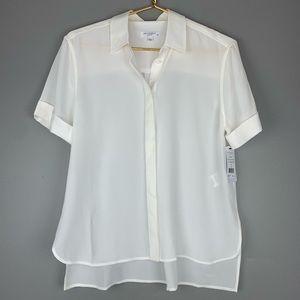 Equipment white silk button down blouse NWT, S